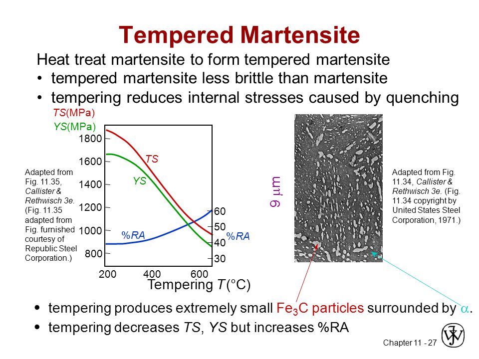 Tempered Martensite • •