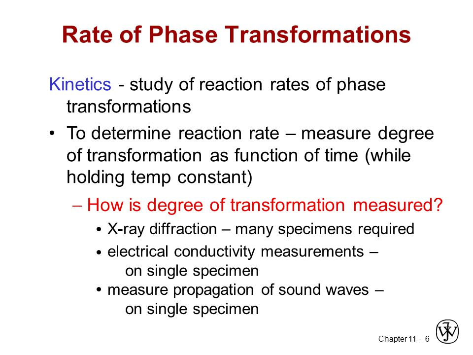 Rate of Phase Transformations