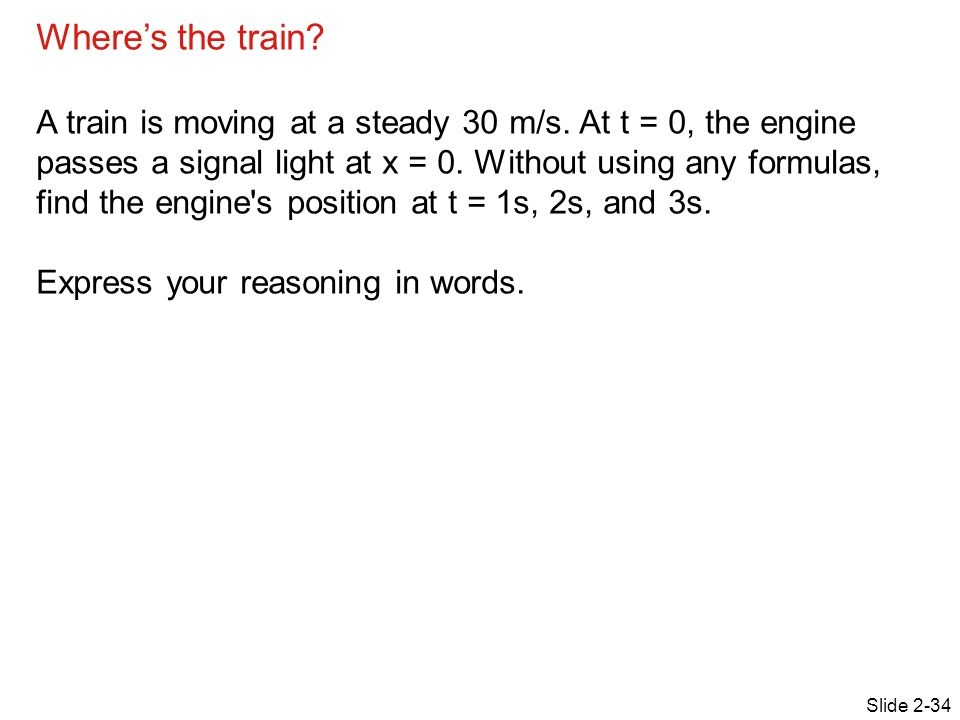 Where's the train