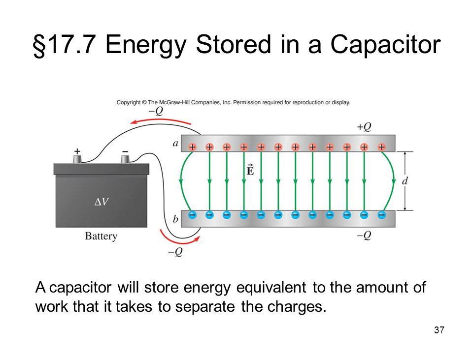 §17.7 Energy Stored in a Capacitor