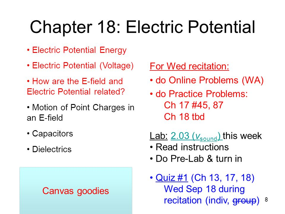 Chapter 18: Electric Potential