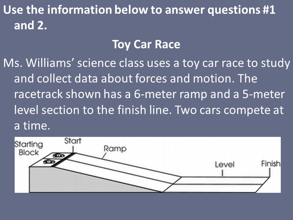 Use the information below to answer questions #1 and 2.