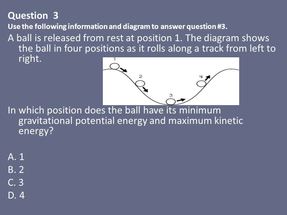 Question 3 Use the following information and diagram to answer question #3.