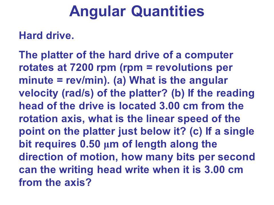 Angular Quantities Hard drive.