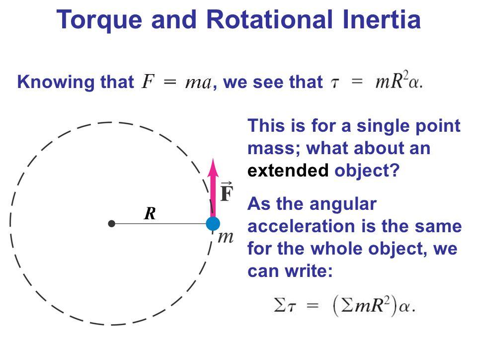 Torque and Rotational Inertia