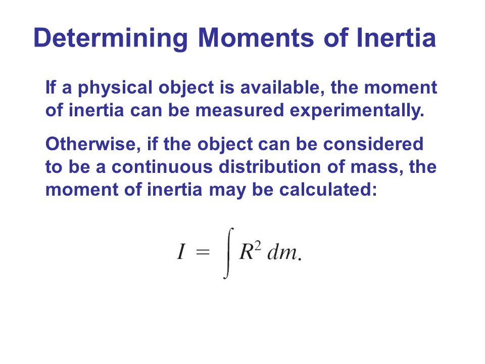 Determining Moments of Inertia