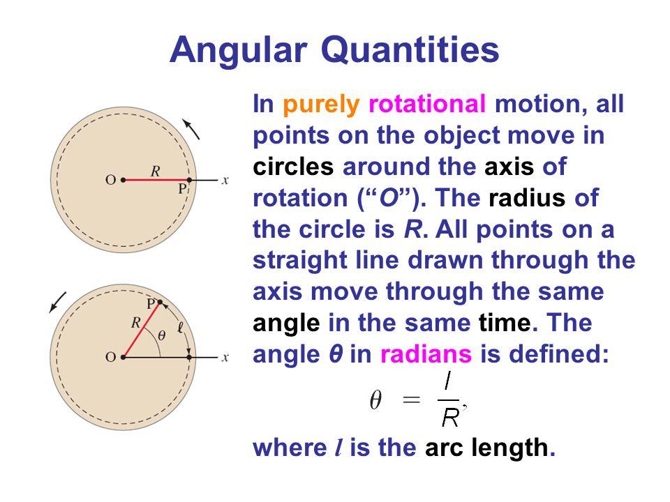 Angular Quantities
