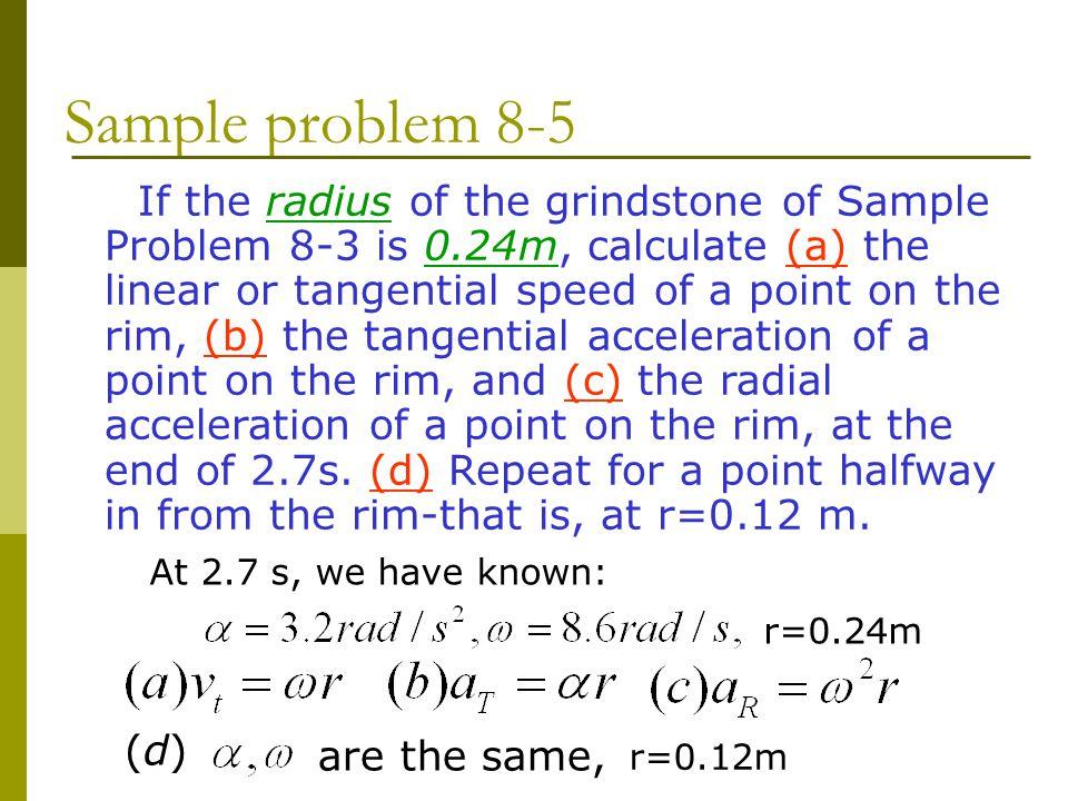 Sample problem 8-5