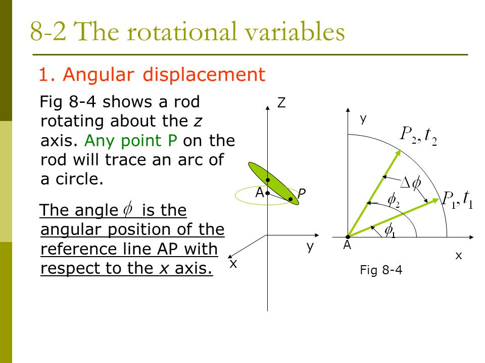 8-2 The rotational variables
