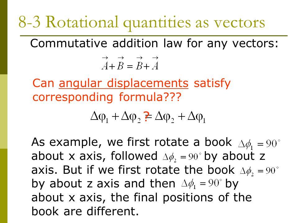 8-3 Rotational quantities as vectors