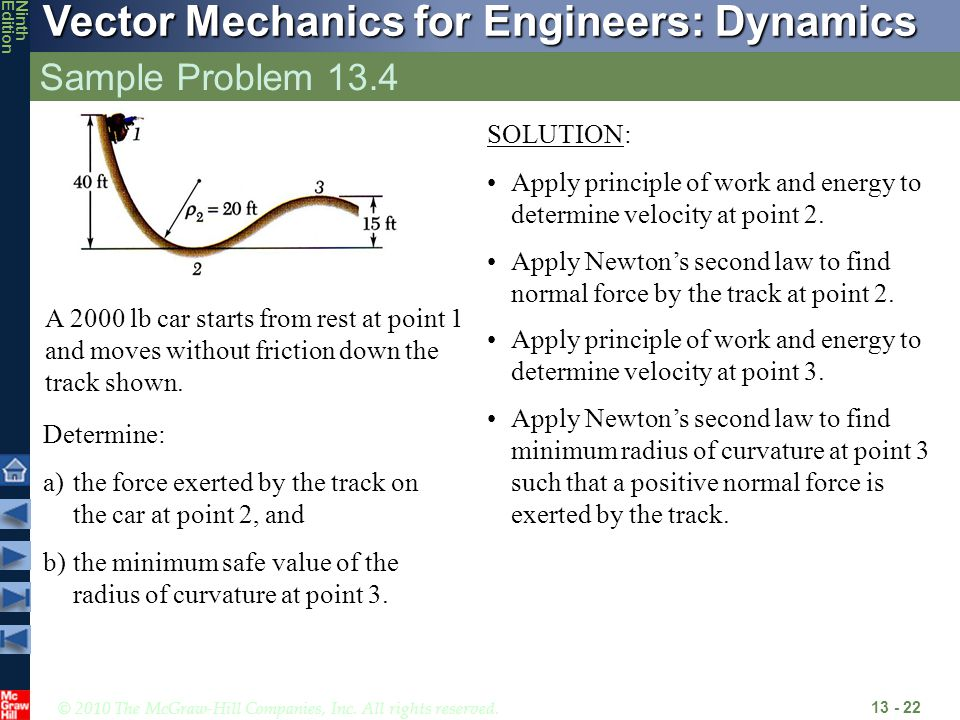 Sample Problem 13.4 SOLUTION: