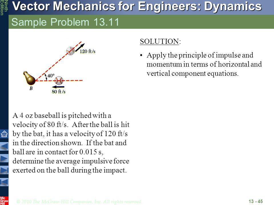 Sample Problem 13.11 SOLUTION: