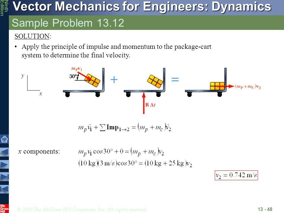 Sample Problem 13.12 SOLUTION:
