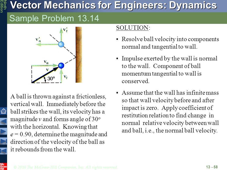 Sample Problem 13.14 SOLUTION: