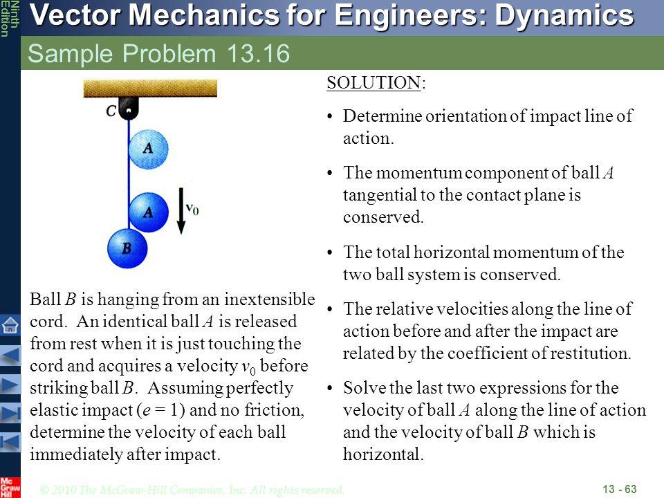 Sample Problem 13.16 SOLUTION: