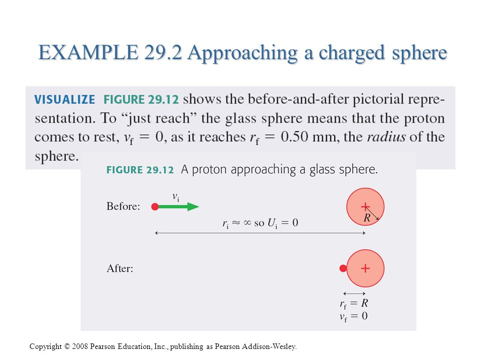 EXAMPLE 29.2 Approaching a charged sphere