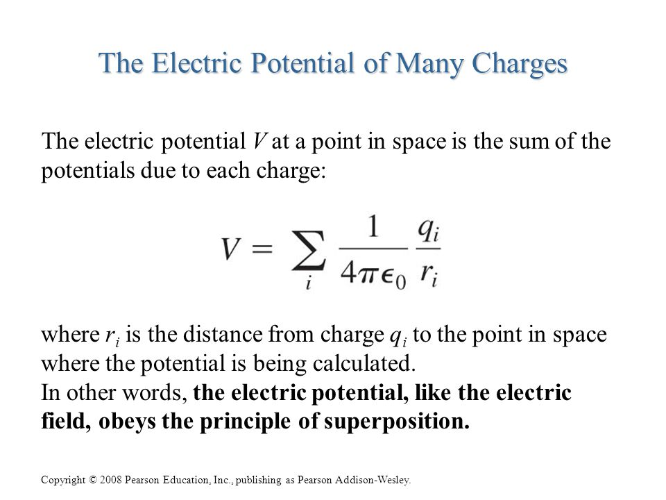 The Electric Potential of Many Charges