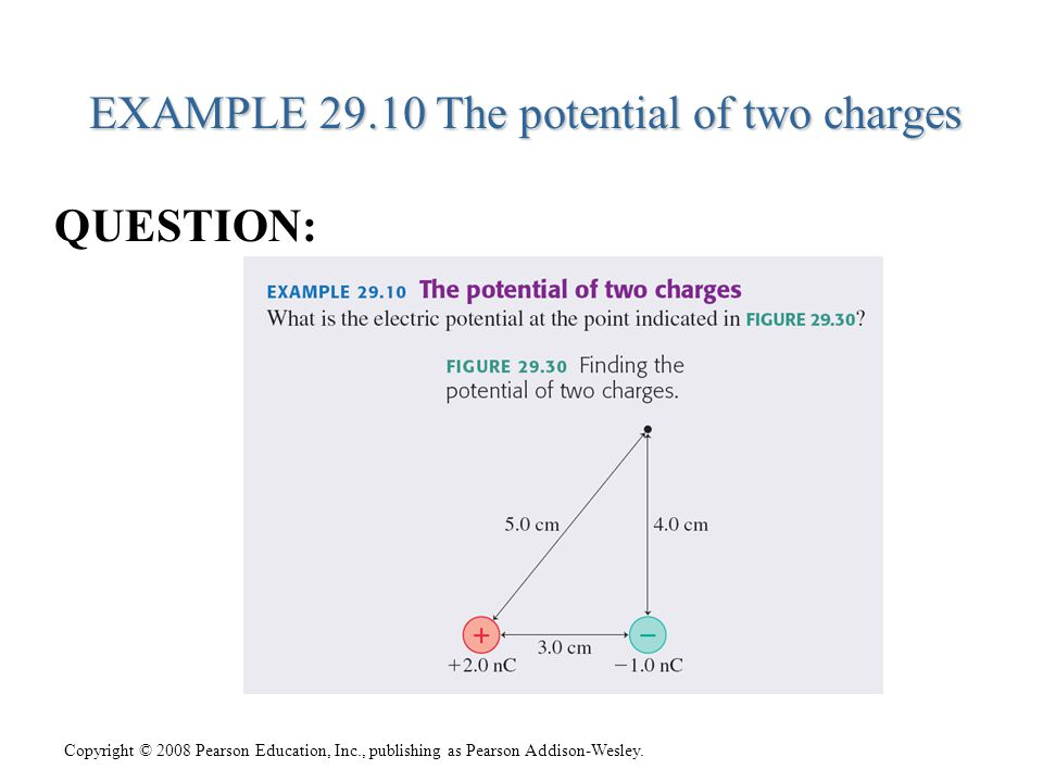 EXAMPLE 29.10 The potential of two charges