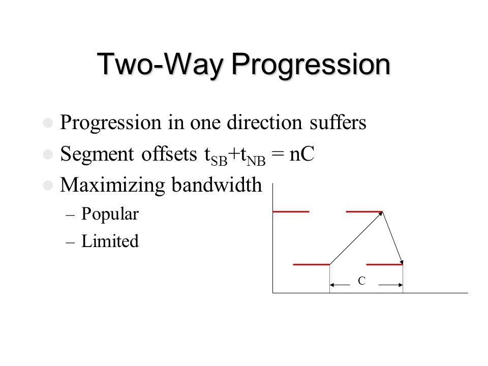 Two-Way Progression Progression in one direction suffers