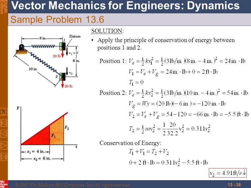 Sample Problem 13.6 SOLUTION: