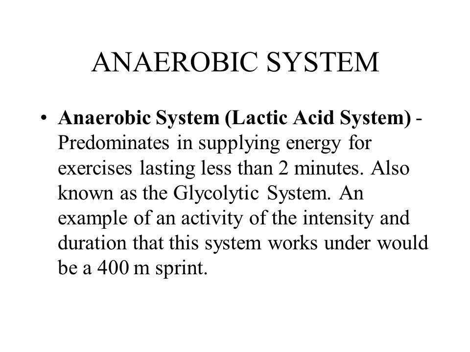 ANAEROBIC SYSTEM