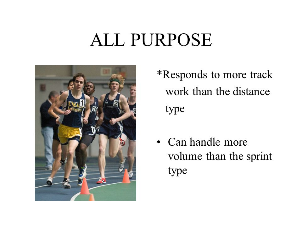 ALL PURPOSE *Responds to more track work than the distance type