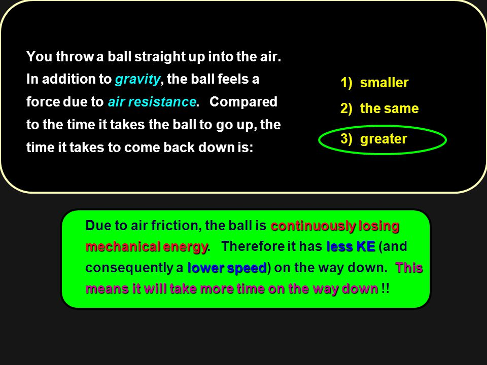 You throw a ball straight up into the air