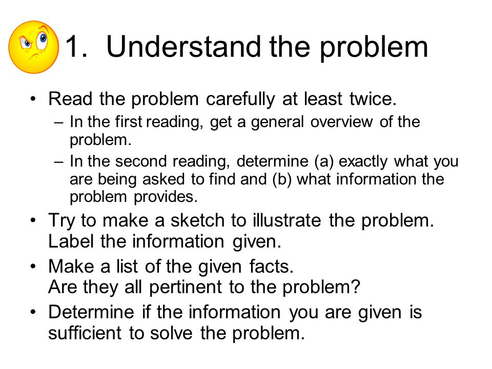 1. Understand the problem
