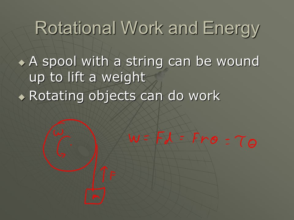 Rotational Work and Energy