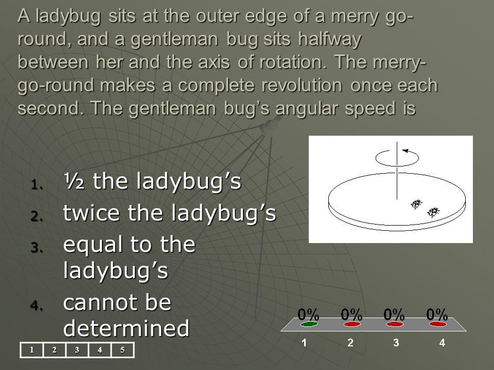 ½ the ladybug's twice the ladybug's equal to the ladybug's