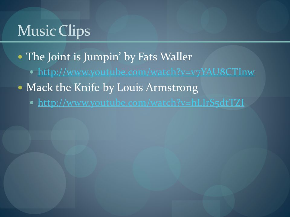 Music Clips The Joint is Jumpin' by Fats Waller