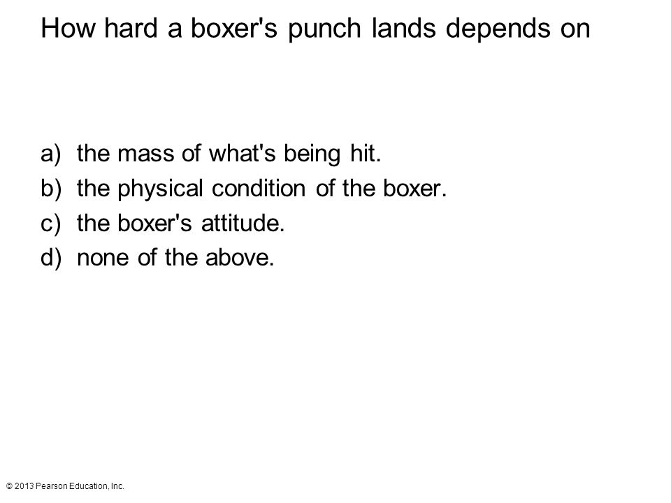 How hard a boxer s punch lands depends on