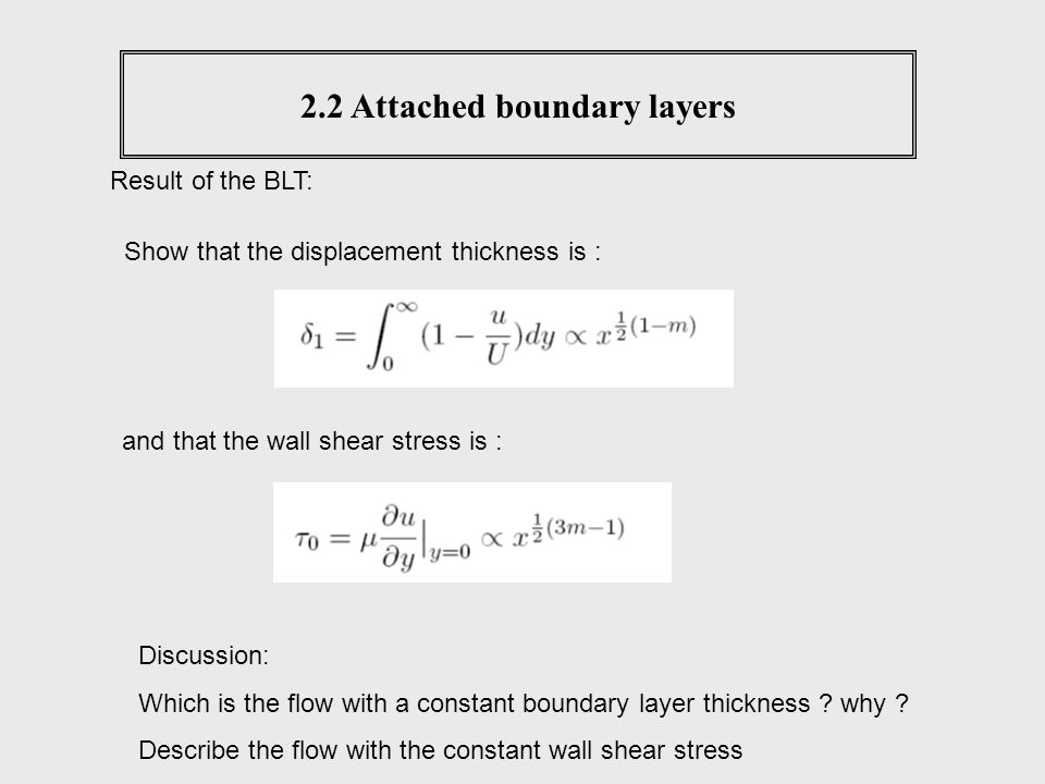 2.2 Attached boundary layers