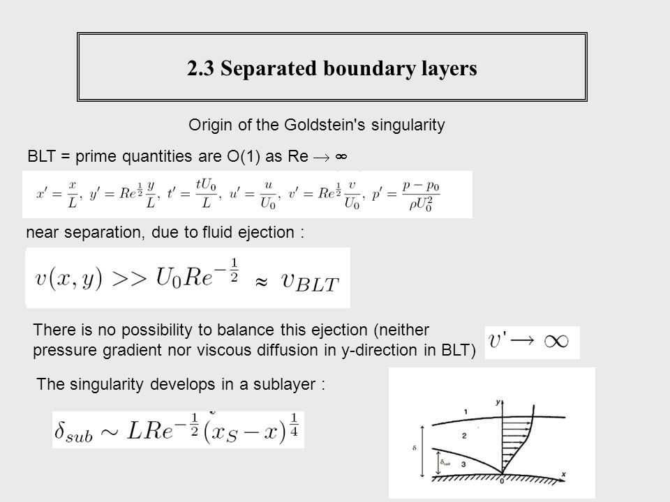 2.3 Separated boundary layers