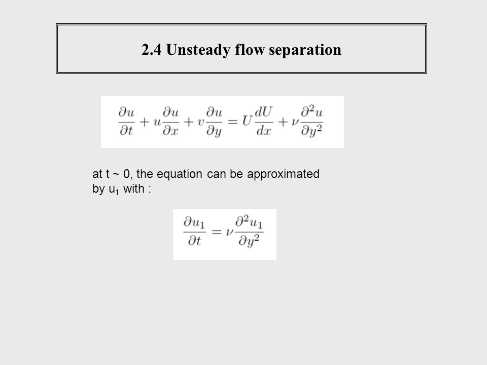 2.4 Unsteady flow separation