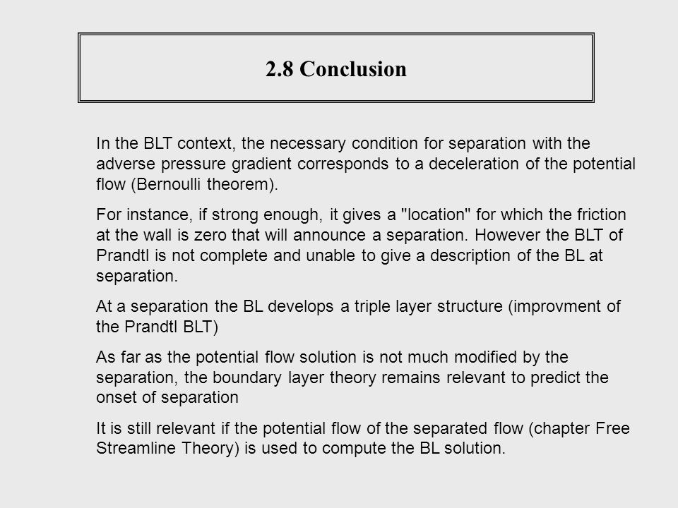 2.8 Conclusion