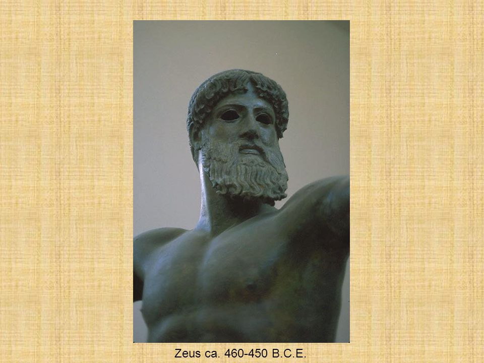 Greek Sculpture Zeus ca. 460-450 B.C.E.