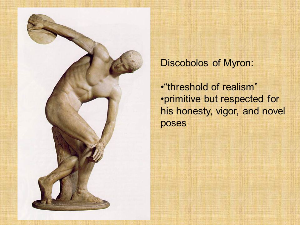 Greek Sculpture Discobolos of Myron: threshold of realism