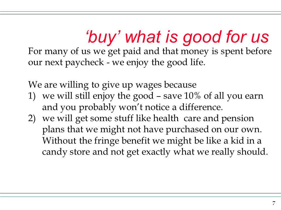 'buy' what is good for us