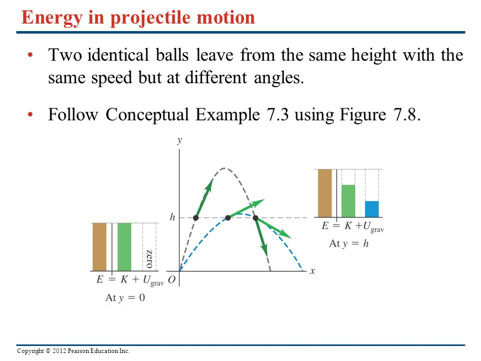 Energy in projectile motion