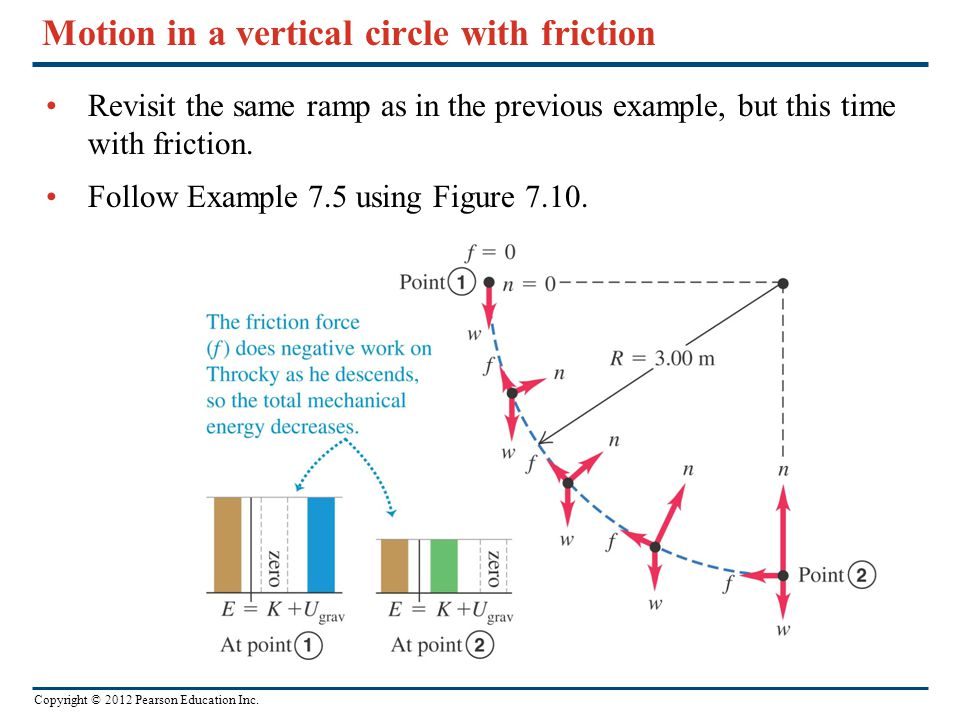 Motion in a vertical circle with friction