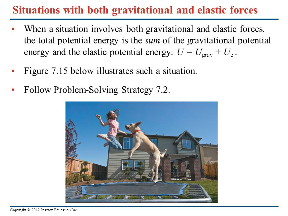 Situations with both gravitational and elastic forces