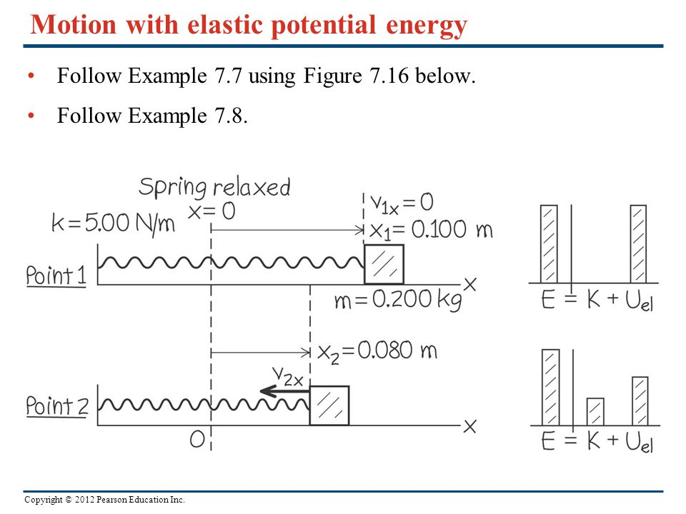 Motion with elastic potential energy