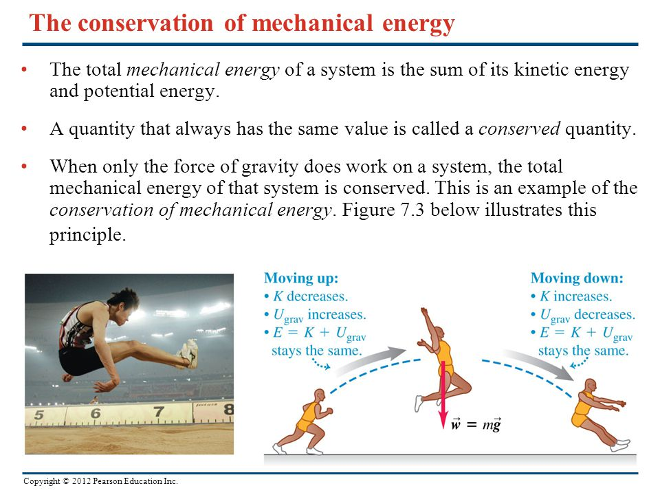 The conservation of mechanical energy