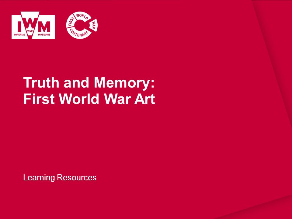 Truth and Memory: First World War Art