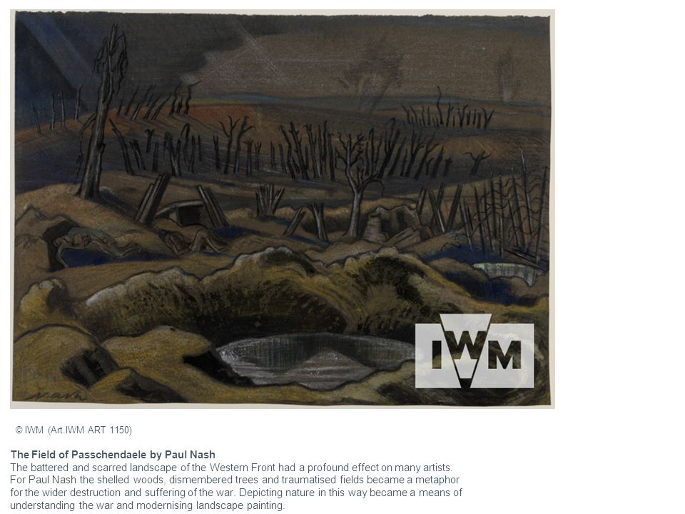 The Field of Passchendaele by Paul Nash