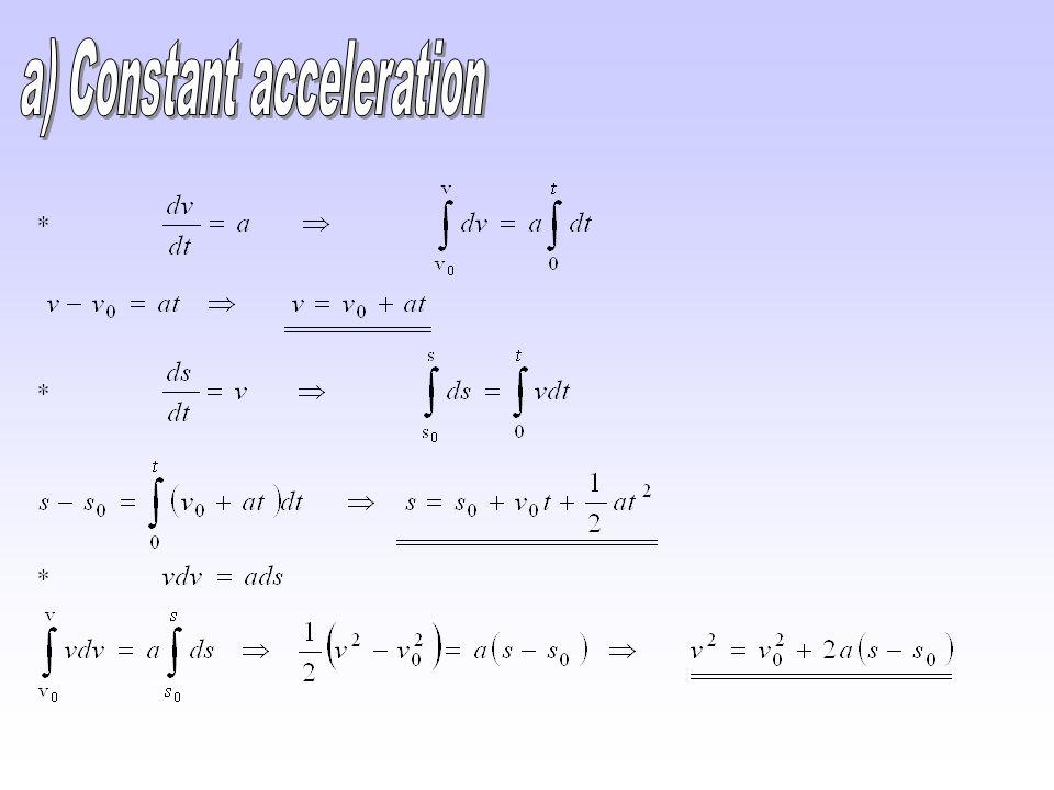 a) Constant acceleration