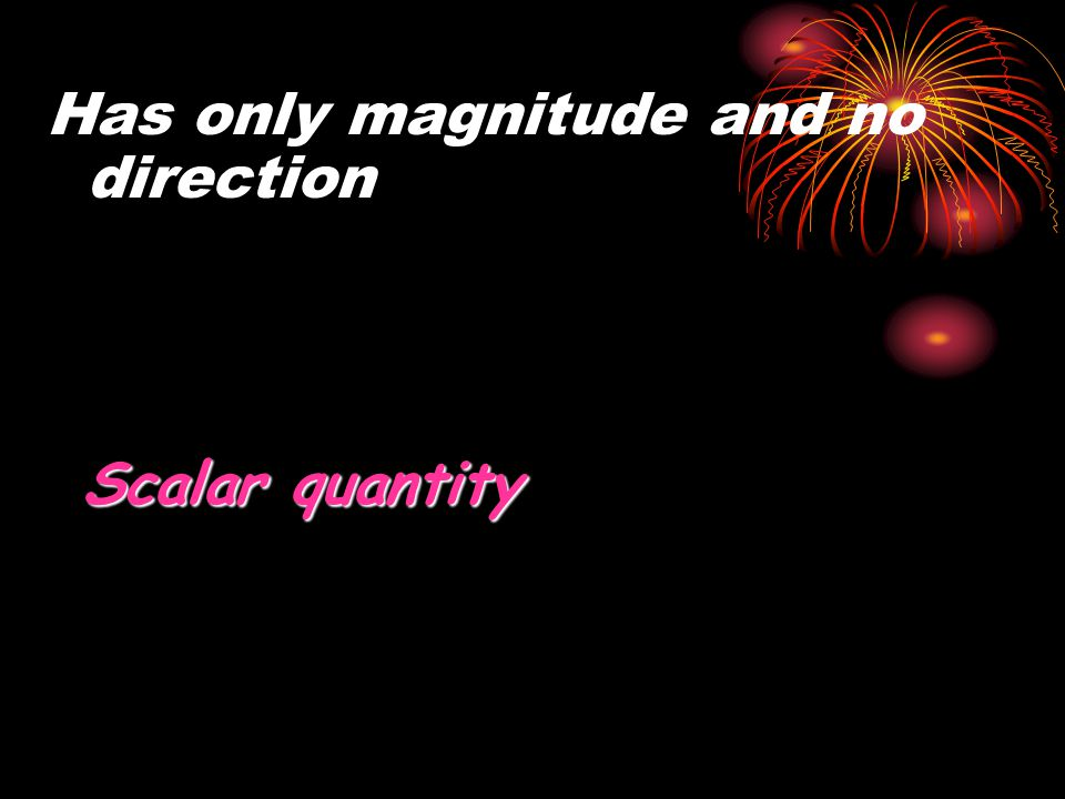 Has only magnitude and no direction