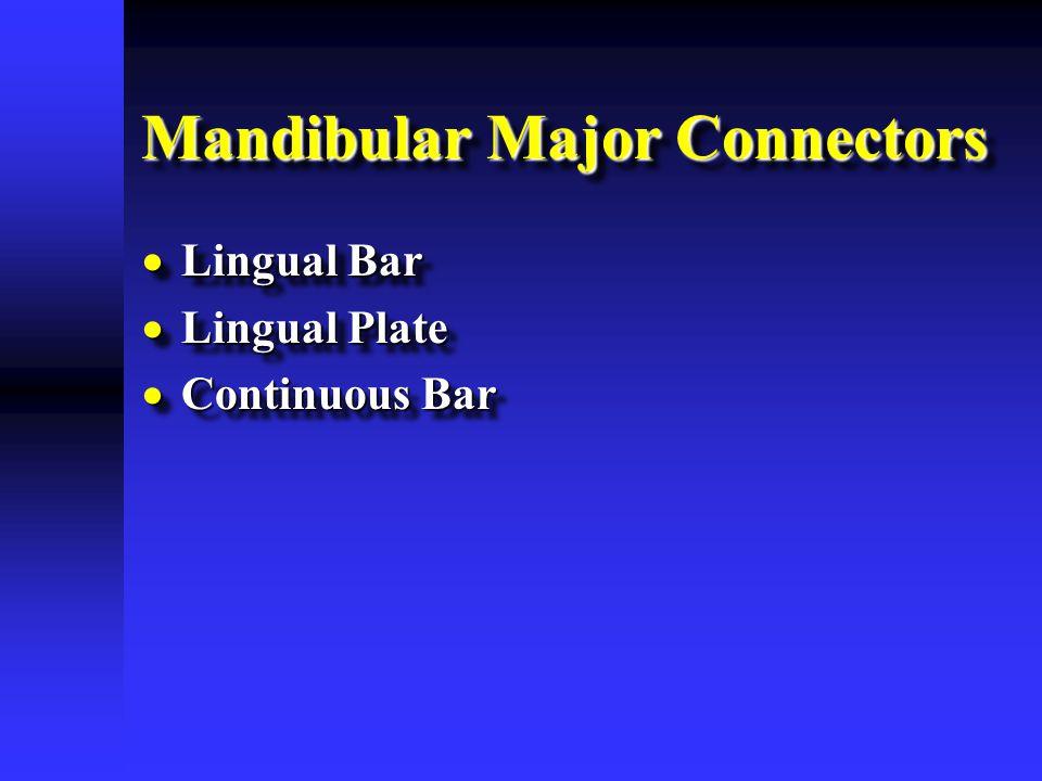 Mandibular Major Connectors