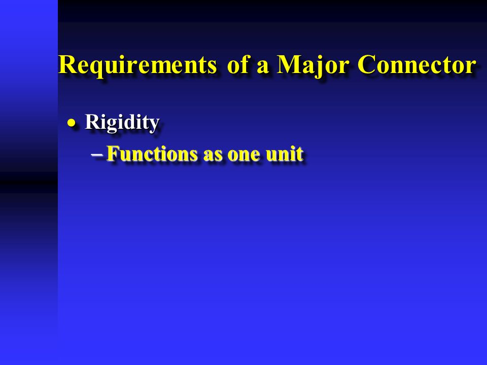 Requirements of a Major Connector